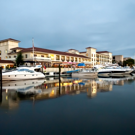 Delamar Marina at Sunset